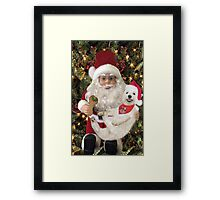 ♥ ˚ ˚✰˚LOOK AT ME ON SANTA'S KNEE I'M HAPPY HE'S GOT A BISCUIT FOR ME♥ ˚ ˚✰˚PICTURE-CARD Framed Print