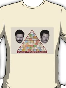 The Ron Swanson Pyramid of Greatness T-Shirt