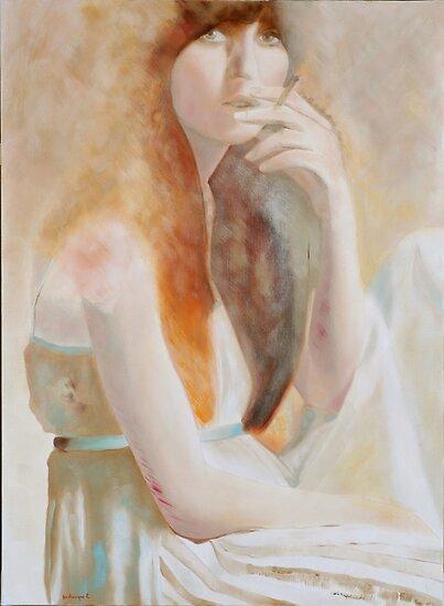 jeune fille a la cigarette by frederiqueK