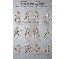 """Fiore dei Liberi """"Florius"""" Longsword Poste (Guards) Photographic Print"""