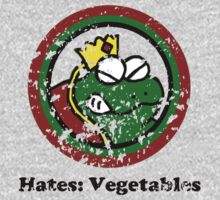 Hates: Vegetables (Battle Damage) Kids Clothes