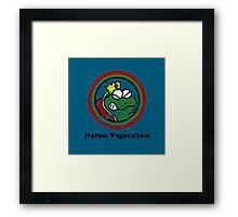 Hates: Vegetables (Battle Damage) Framed Print