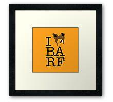 I Heart BA RF Framed Print