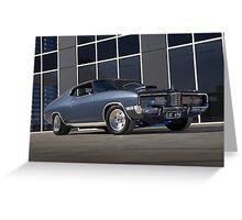 Gunmetal Grey Ford Landau Greeting Card