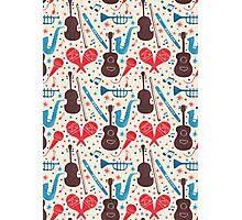 Music Instruments Pattern Photographic Print