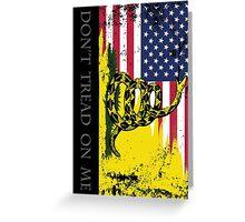 American Gadsden Flag Worn Greeting Card