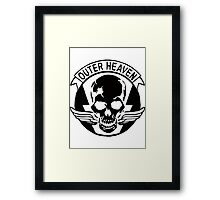 Outer Haven Logo Black Framed Print