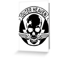 Outer Haven Logo Black Greeting Card