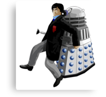 Doctor Who #2 and Dalek Canvas Print