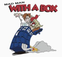 mad man with a box Kids Clothes
