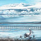 Storm Clouds over Tuggerah Lake by Beryl Withnell
