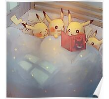 Pikachu Bed Time Poster