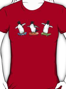 Happy Wheels - Penguins on Skate Boards T-Shirt
