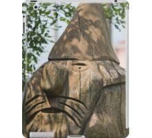 wooden statue in the park iPad Case/Skin
