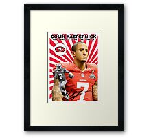 Colin Kaepernick Baseball Card Framed Print