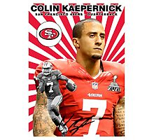 Colin Kaepernick Baseball Card Photographic Print