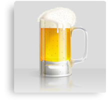 Light beer mug Canvas Print