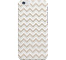 Gold Glitter Chevron Pattern iPhone Case/Skin