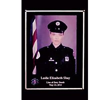 """Chicago Fire - Leslie Elizabeth Shay """"Line of Duty Death""""  Photographic Print"""