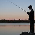Fishing at Sunset by patsarts