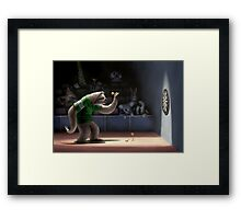 Sloth Darts Framed Print