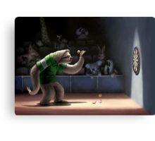 Sloth Darts Canvas Print