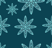 seamless pattern with snowflakes. drawing hands by Ann-Julia