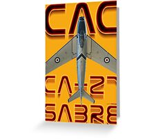 CAC Ca-27 Sabre  Greeting Card