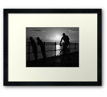 West Kirby Mono-sunset Framed Print