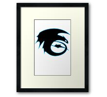 How to train your dragon - Toothless Symbol Framed Print
