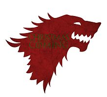 Christmas is Coming - Game of Thrones Stark Banner by Posteritty