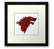 Christmas is Coming - Game of Thrones Stark Banner Framed Print