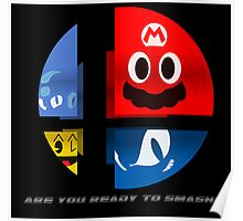 Are Ready to Smash? (Silhouette Var.) Poster