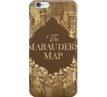 Distressed Maps: Harry Potter Marauder's Map iPhone Case/Skin