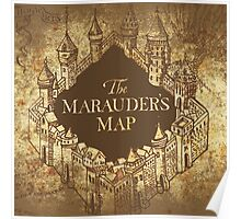 Distressed Maps: Harry Potter Marauder's Map Poster