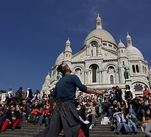 Juggler at Sacre Couer by Ashley Ng