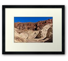 Golden Canyon and Red Cathedral. Framed Print