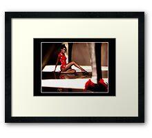 Heels & Roses Framed Print