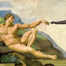 The Original Creation Of Adam With Elephant by Mythos57