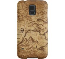 Distressed Maps: Elder Scrolls Skyrim Samsung Galaxy Case/Skin