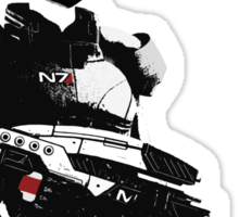 N7- Commander Shepard (Male) Sticker