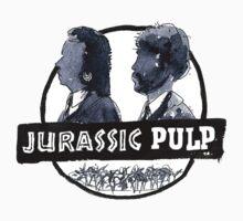 Jurassic Pulp Official T-Shirt (Jurassic Park / Pulp Fiction) by dotgumbi