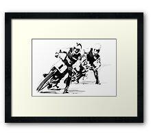 Dirt Track Racers. Framed Print