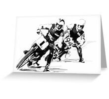 Dirt Track Racers. Greeting Card