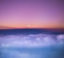 Sunrise above the clouds by MartijnKort