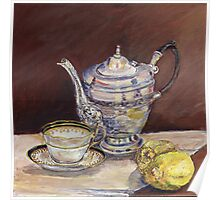 Deb's Teapot with Lemons Poster