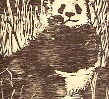 Woodcut Panda by GailB