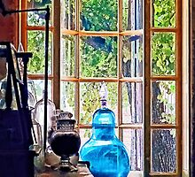 Blue Apothecary Bottle by Susan Savad