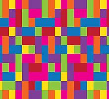 Rainbow Blocks by ArtfulDoodler