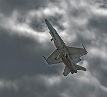 Aussie F18 Hornet at speed. by Nathan T